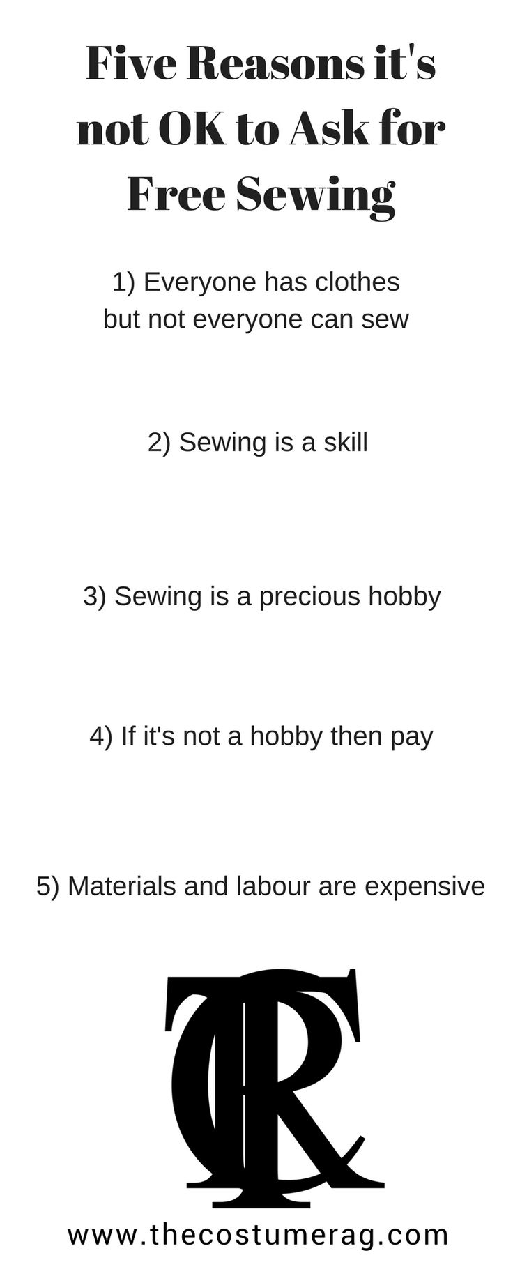 infographic why it's not ok to ask for free sewing
