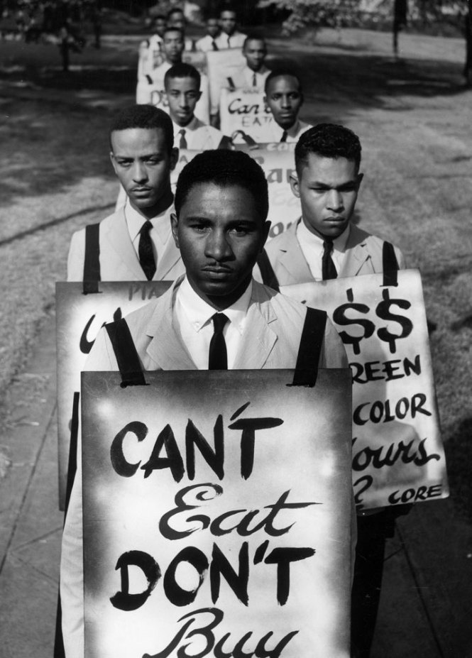 Civil rights protest, Petersburg, Va., 1960. Location of ...