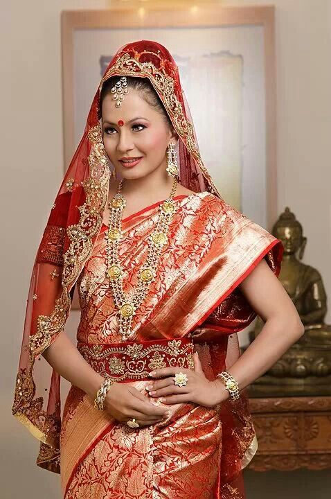 Nepali Bridal Dress Malvika Subba Miss Nepal 2002