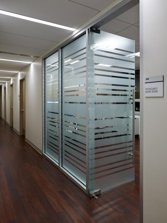 Physician timeshare offices , while located at the back of the Practice, were not spared when designing the space.