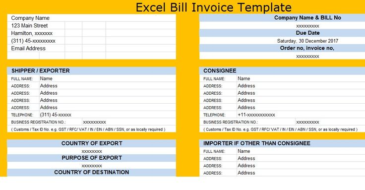 7 best Free Invoice Templates images on Pinterest Invoice - make an invoice in excel
