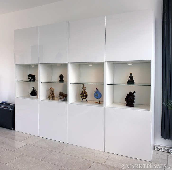 Ikea Besta display - Yet another way of combining hidden storage with display shelving. Would be great in a living room or even in a hallway as the units are not too deep.