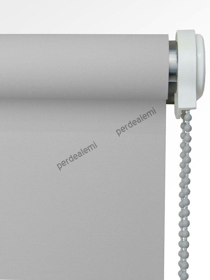 Brillant Mat Polyester Stor Perde (Açık Gri 5247)