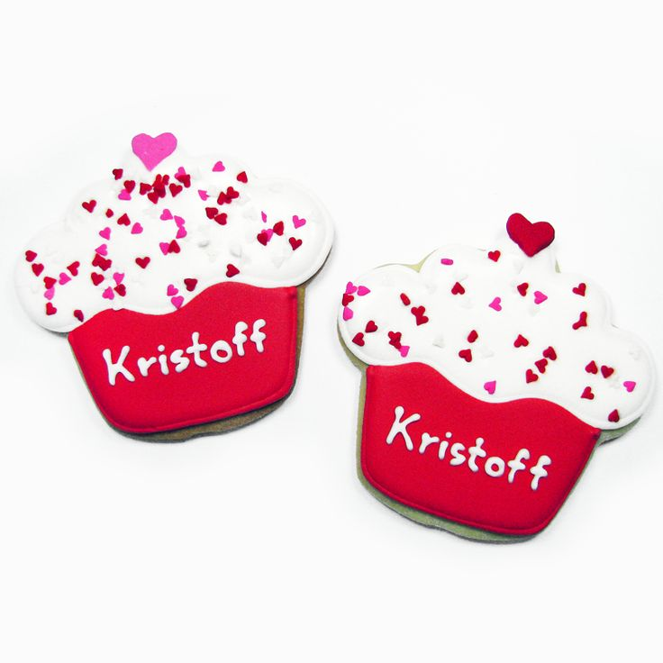 valentine's day cupcakes cookies with name of hotel