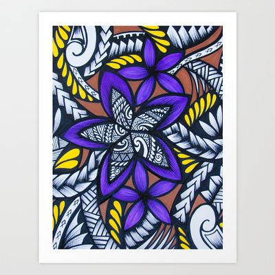 """""""my manamea Art Print by Lonica Photography & Poly Designs - $22.88"""" Love Lonica's work - I have some on my walls and would love purple Fijian style wedding stationery"""