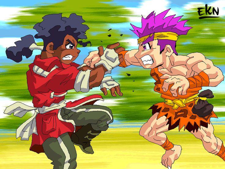 PROCESO: Yugga VS Rapuk personajes de Cibercali Comics | EKN: Mis Dibujos de Anime Manga