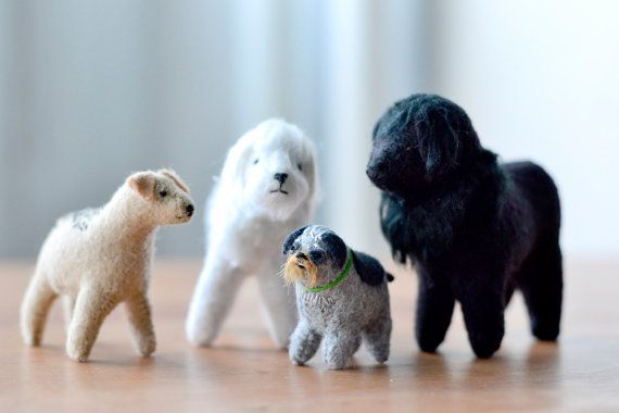 custom 3d pet portrait  (medium size) - miniature felt pet portrait by mountroyalmint on Etsy, 78,40 €