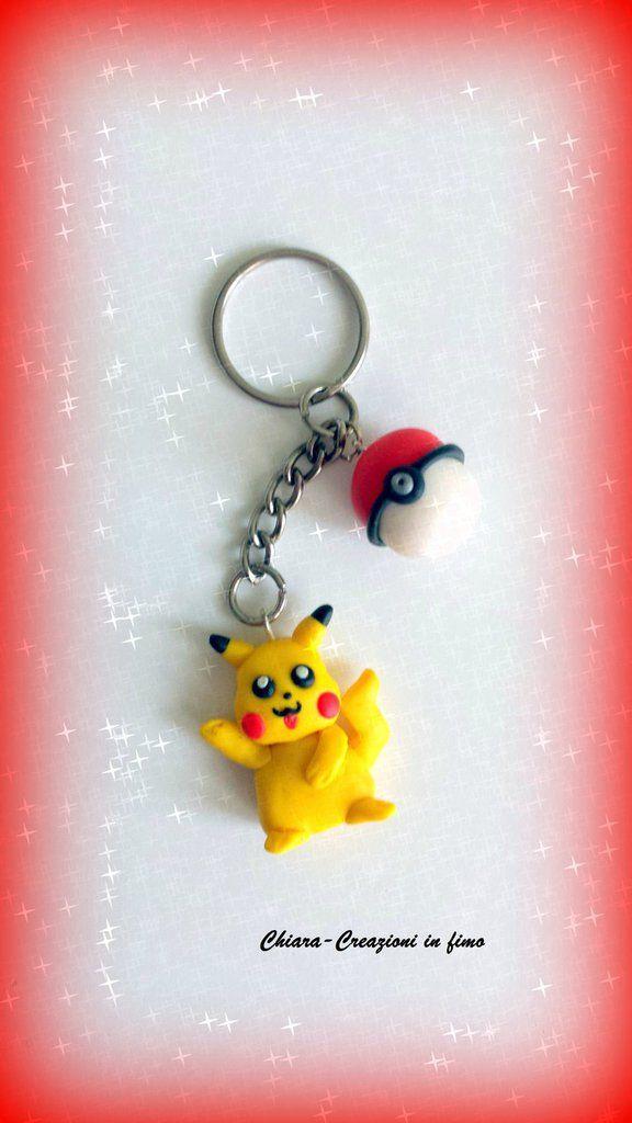 #Portachiavi in #fimo handmade #Pokemon kawaii Pokemon Go miniature idee regalo regalo Natale regalo epifania calza befana, by Chiara - Creazioni in fimo, 5,00 € su misshobby.com