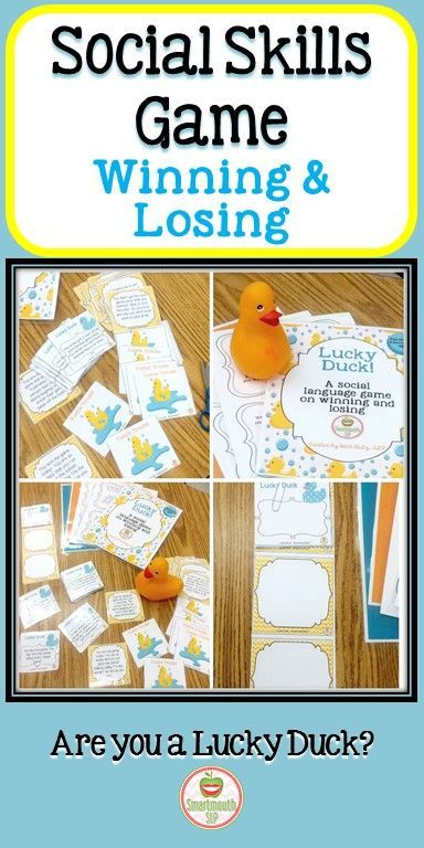 This social language game targets winning and losing skills.  Your students will have fun working on these tough social emotional skills.