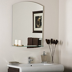 Vanessa Modern Bathroom Mirror with small shelf $130