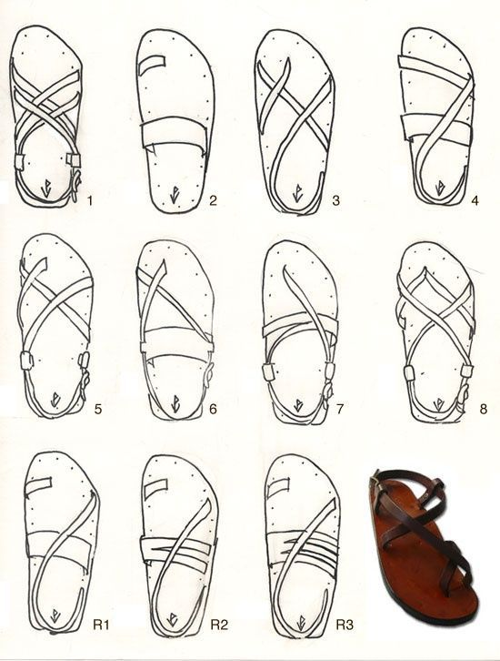 SHAPES OF SANDALS: