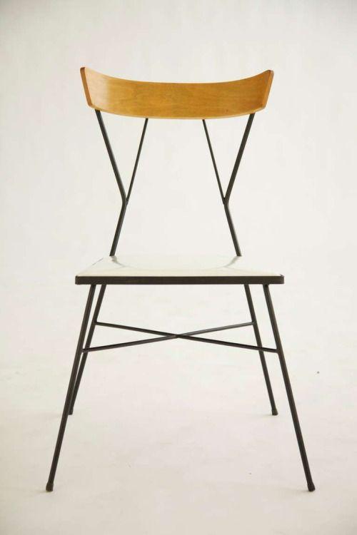Wrought Iron + Wood Chair   Paul Mccobb   Arbuck   Ca 1935