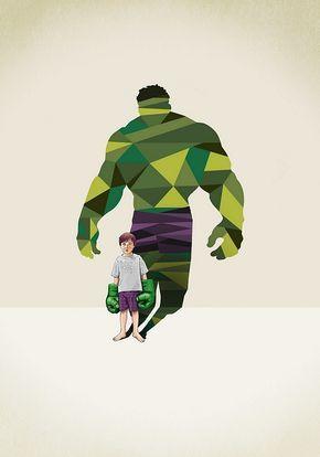 As super-sombras de Jason Ratliff - O diretor de arte Jason Ratliff utiliza a técnica low poly, para mostrar o super-herói dentro da imaginação de cada criança, representado pela sua sombra.