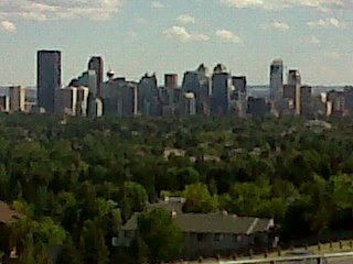 Calgary, down town view from Nose Hill Park