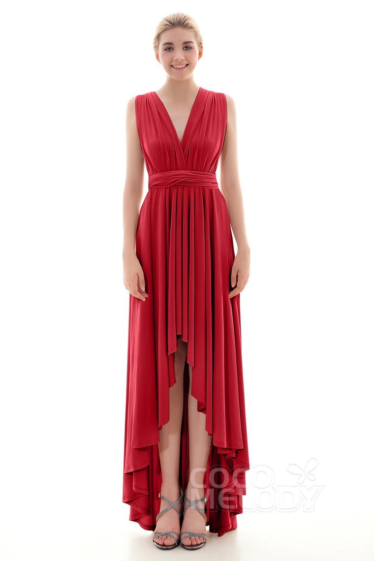 814 best 2017 bridesmaid dresses images on pinterest timeless asymmetrical natural high low knitted fabric sleeveless convertible bridesmaid dress draped coed16001 ombrellifo Gallery