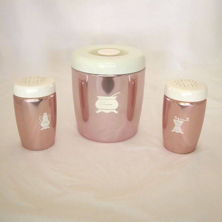 West Bend Grease Canister, Salt & Pepper Shakers, Copper