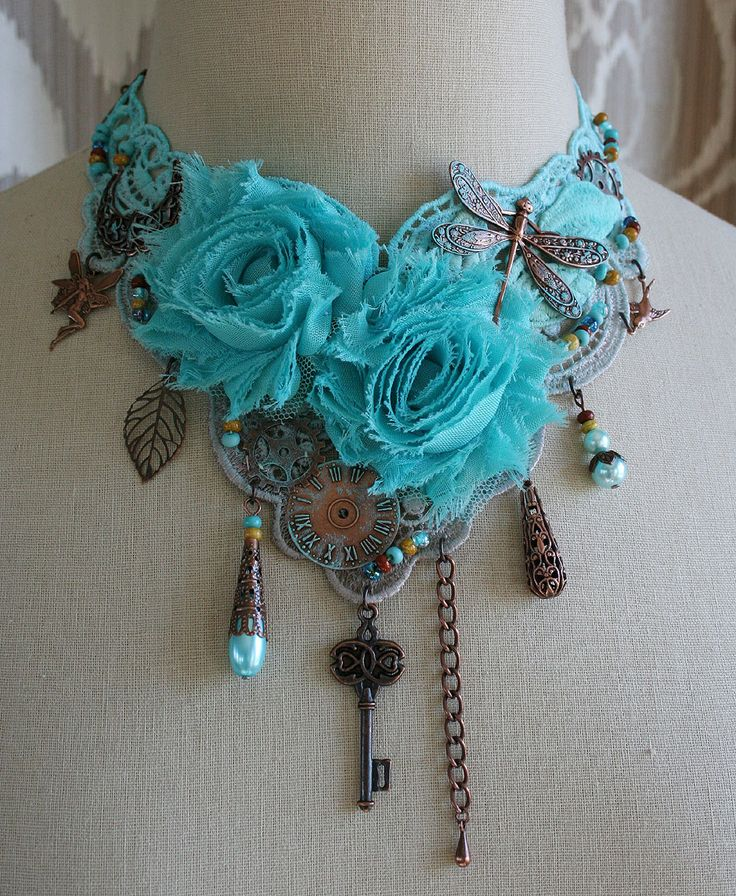 Steampunk fantasy choker -- in red for Belle?