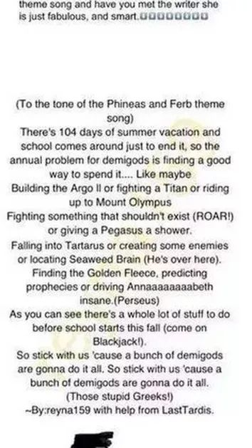Yassssss, there should be a TV show with this as theme song!!! MAKE THIS HAPPEN, WE NEED THIS SINCE THE PERCY JACKSON MOVIES WERE A TOTAL FAIL!!!!!!!!!!!!!!!!!!!!!!!!!!!!!