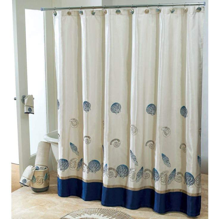 Baños Estilo Nautico:Shower Curtains with Shells