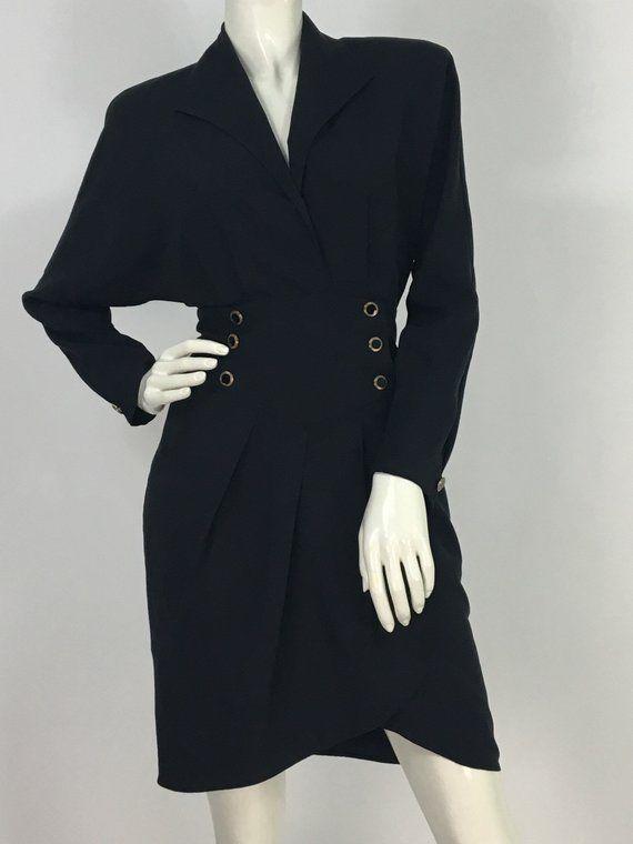 2073814409dfa 80s Le Chateau dress/1980s black dress   hanger&drawers   Women's ...