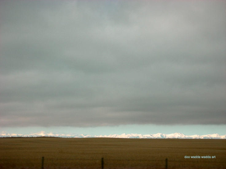 Chinook arch over the Rockies