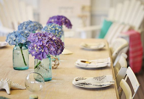 Hydrangeas centerpiece baby shower ideas pinterest