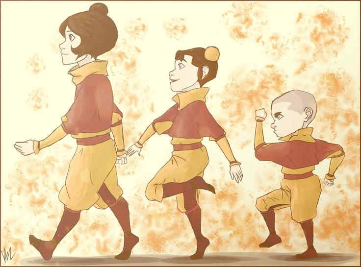 The airbender kids by bealor.deviantart.com on @deviantART