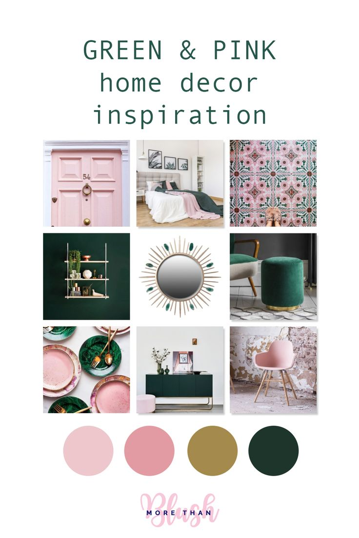 Colour Inspiration - Green and Pink Home Decor - More than Blush