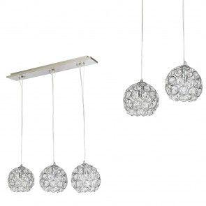 [lux.pro] Lampadario lampada soffitto Design cromo+cristallo allumino plafoniera 42,10 €