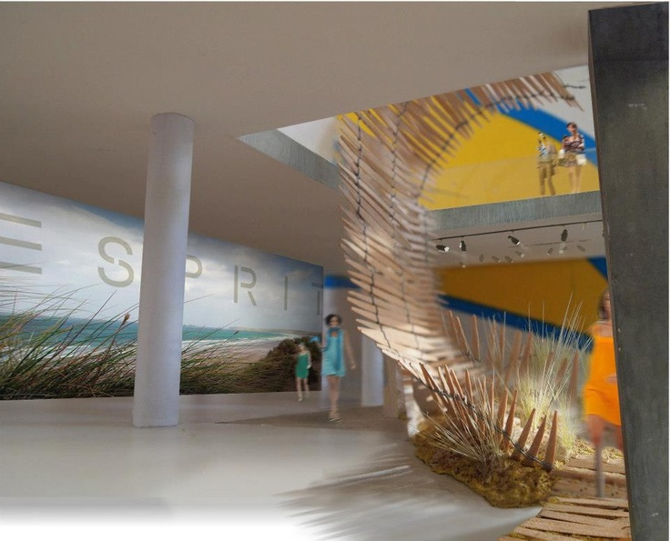 Be transported to the beach with this design for @Esprit by naganJohnson for the RIBA London, Regent Street Windows Project