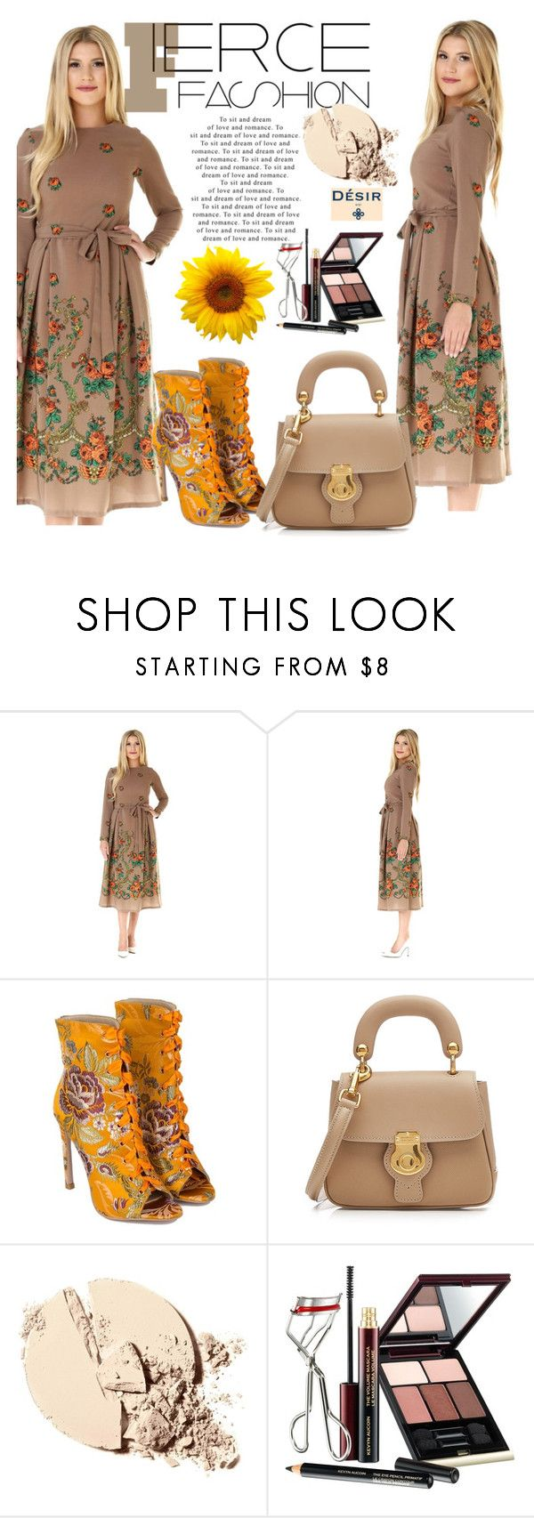 """""""DESIR VALE"""" by selmir ❤ liked on Polyvore featuring Burberry, Kevyn Aucoin, StreetStyle, chic, dress and plus size dresses"""