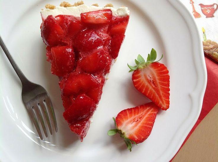 Nepečený cheesecake s jahodami / No bake cheesecake with strawberries