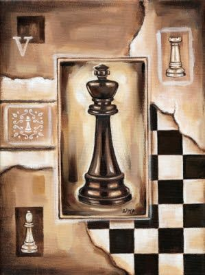 Chess 1 Printable modpodge or scrapbooking