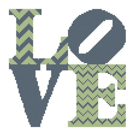 Modern Cross Stitch Wedding Pattern di oneofakindbabydesign