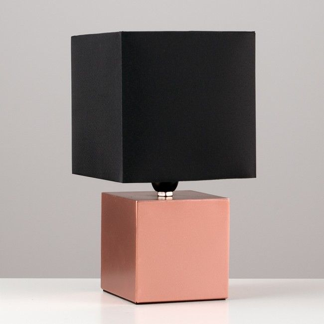 14 best lights images on pinterest copper touch table lamps and modern cubbie copper touch table lamp with black shade iconic lights aloadofball Images