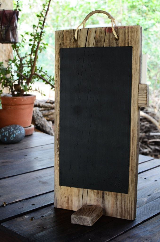{chalkboard} reclaimed wood chalkboard for table menu