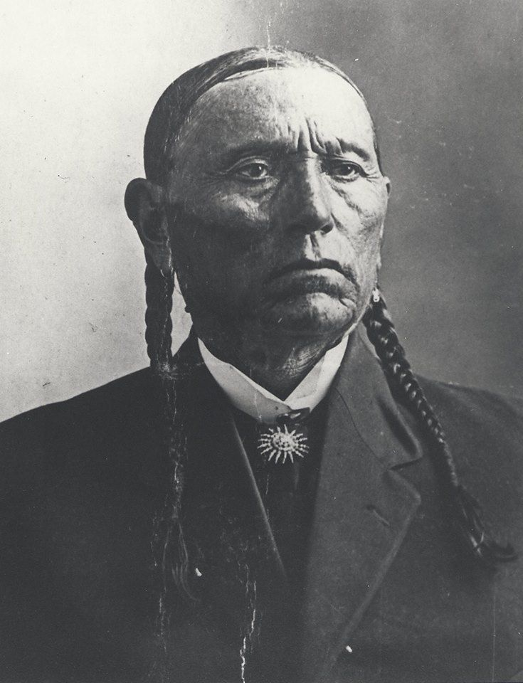 Portrait of Comanche chief Quanah Parker. It was taken shortly before Quanah passed away in 1911.