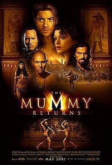 Released May 4, 2001, starring Brendan Fraser, Rachel Weisz, & introducing Dwayne Johnson aka The Rock