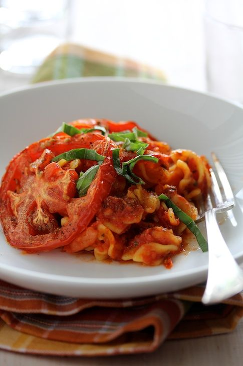 Baked Pasta with Fresh Tomatoes