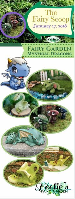 Fairy Garden Mystical Dragons. www.teeliesfairygarden.com . . . The Fairy King and Queen, together with the elder dragons, gather everyone to welcome and celebrate the mighty dragon's birth to Fairy Land! #fairyscoop