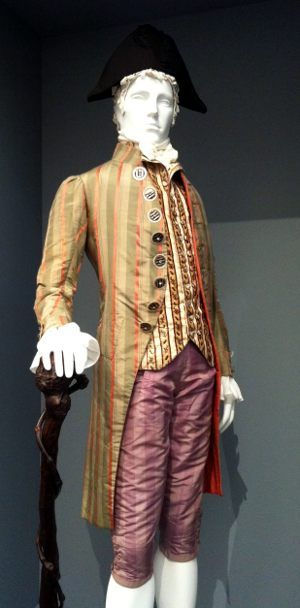 """From a fascinating exhibit at the Los Angeles County Museum of Art, """"Fashioning Fashion: European Dress in Detail 1700-1915."""" These are the actual clothes worn at the time, not reproductions."""