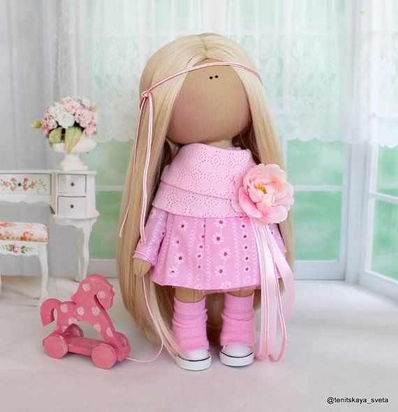 Tilda doll Textile doll Fabric doll Handmade by AnnKirillartPlace