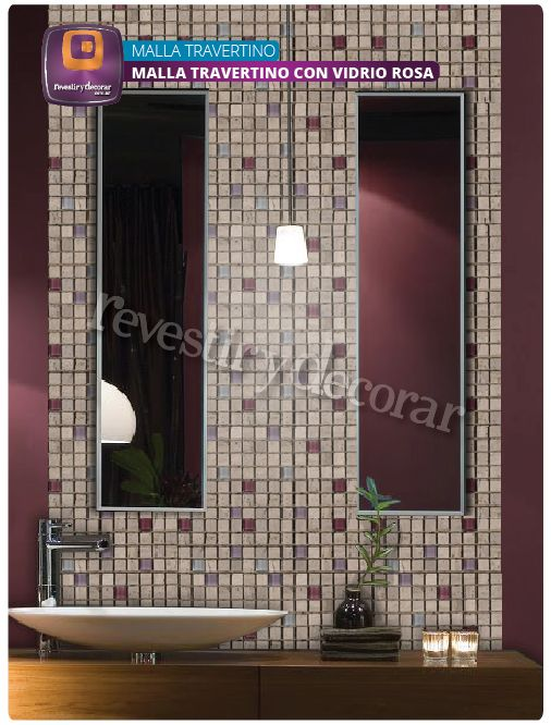 #Decoración #Venecitas #Marmol #Travertino #Baño