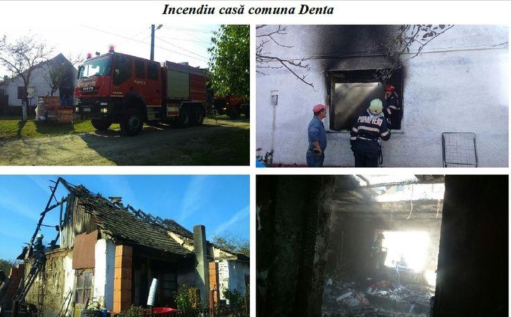 """Panică astăzi într-o casă din comuna Denta, la 50 de kilometri deTimișoara, lângă Deta. Inspectoratul pentru Situații de Urgență """"Banat"""" al județului Timiș"""