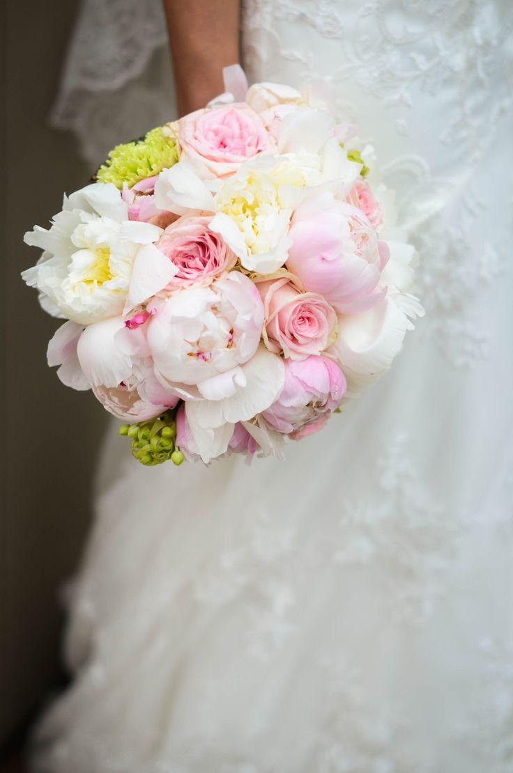 peonies, pioenrozen, bouquet, pioen, roos, boeket, bride, wedding