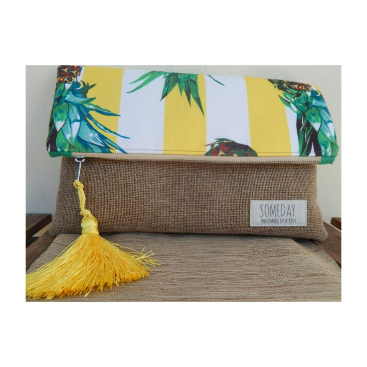 Someday summer bag with yellow stripped Pineapples