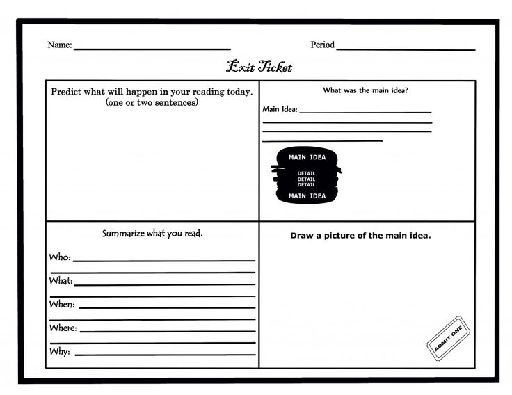 13 best Civics images on Pinterest Teaching ideas, Classroom - Exit Ticket Template