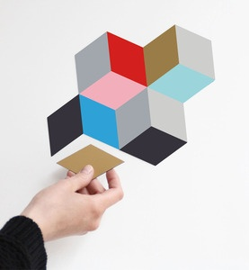 snug.magnets +++ set of 12 coloured magnets each 85x50mm.  create your own pattern everyday