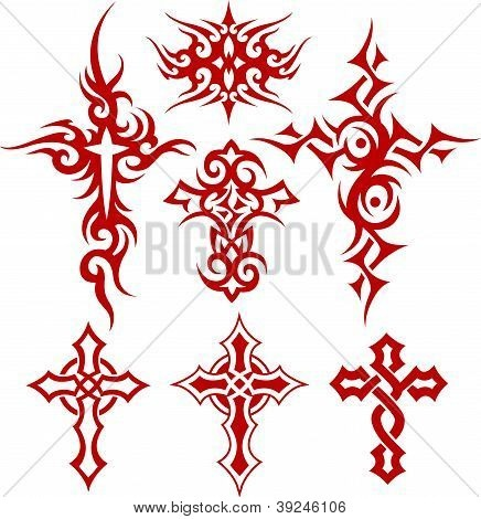 tribal cross tattoos - Google Search