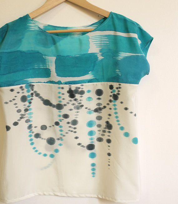silk hand painted shirt by xsilk on etsy
